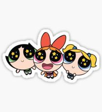 Super Girl Stickers #thepowerpuffgirls