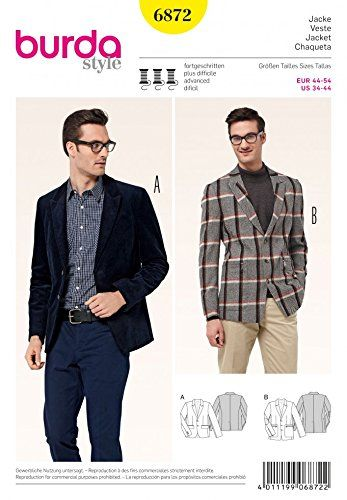amazon drap housse Patron de couture Burda Homme 6872 – Smart Drap housse Ve https  amazon drap housse