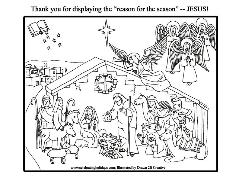 I Spy Jesus Celebrating Holidays Nativity coloring