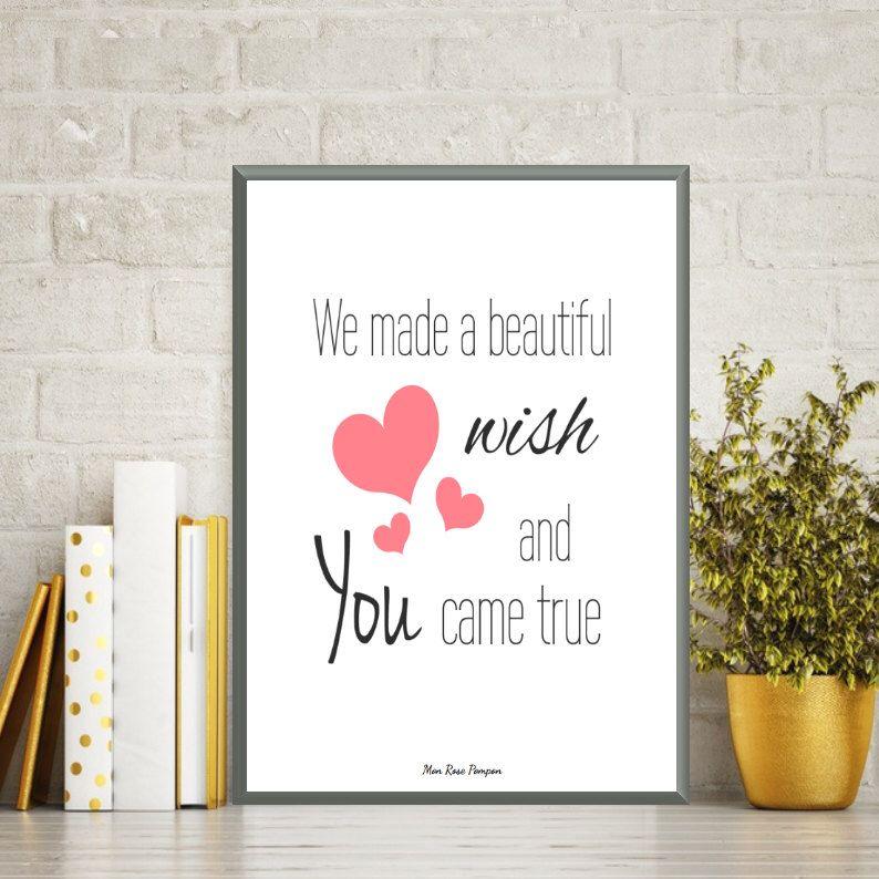 illustration enfant affiche citation affiche amour affiche imprimer d coration chambre de. Black Bedroom Furniture Sets. Home Design Ideas