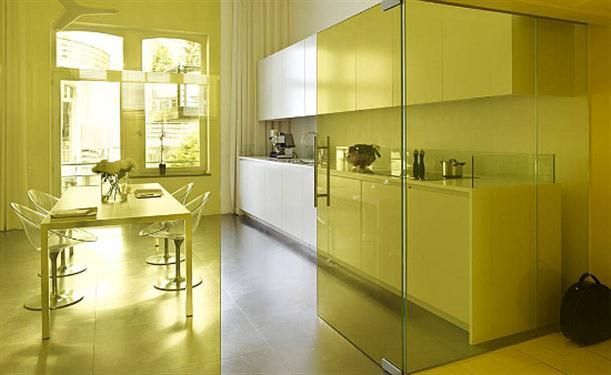 the-kitchen-with-glass-walls-1.jpg (611×375) | Small Kitchen ...