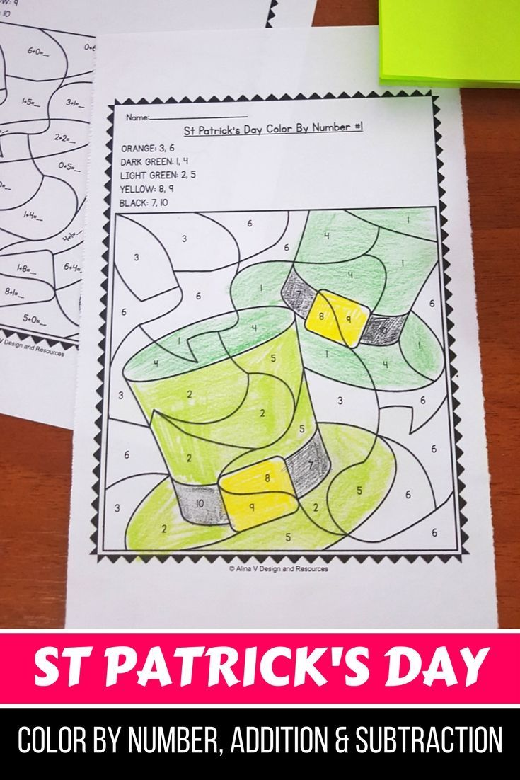 FREE Sample of St Patrick\'s Day Activities For Kindergarten (Math No ...