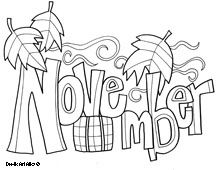 Month Coloring Pages Fall Coloring Pages Coloring Pages Thanksgiving Coloring Pages