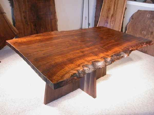 Rustic 4 Claro Walnut Slab Custom Dining Table Http Buff Ly