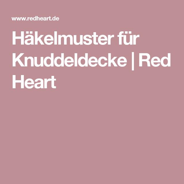 Häkelmuster für Knuddeldecke | Red Heart