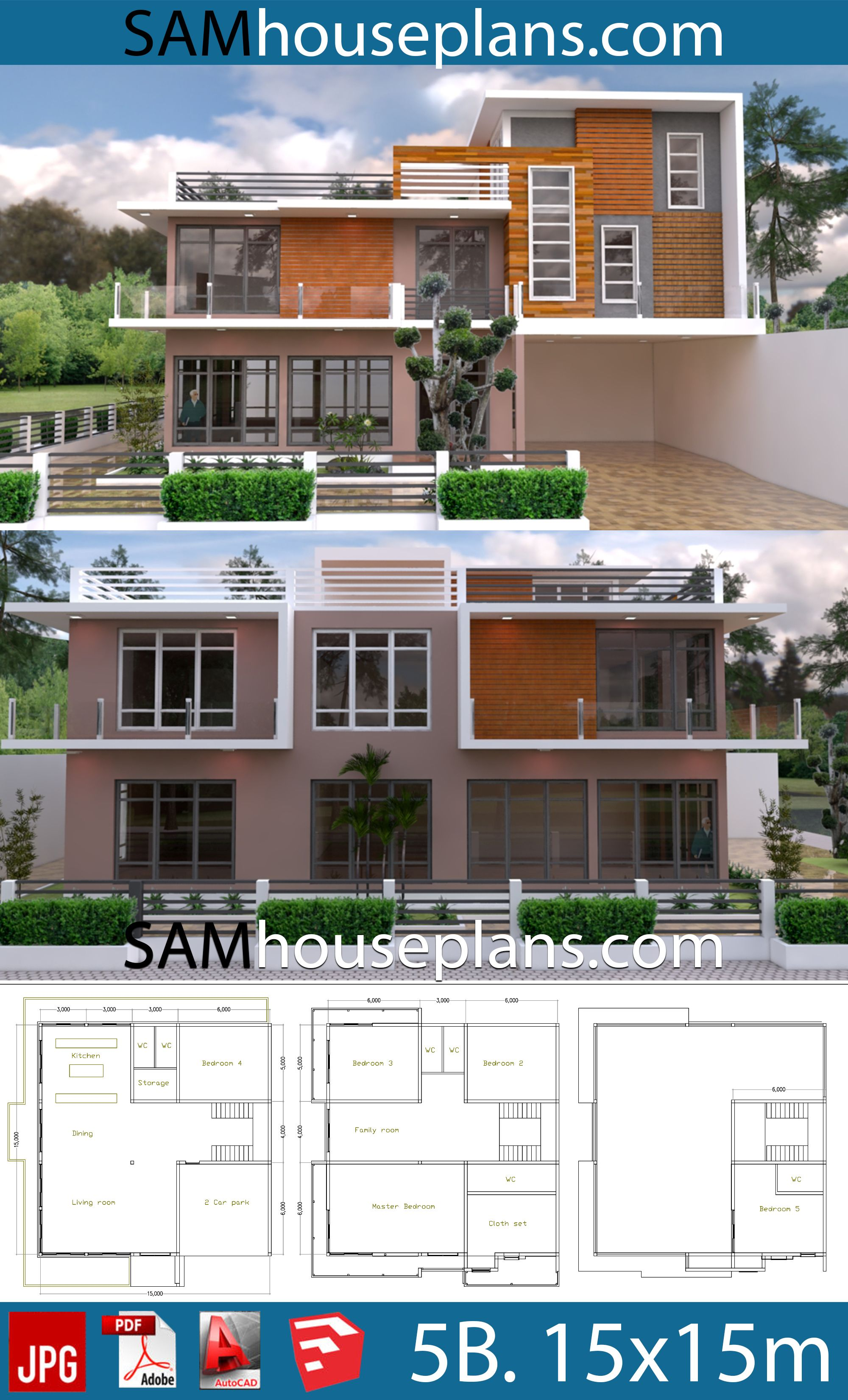 House Plans 15x15 With 5 Bedrooms House Plans Free Downloads House Plans House Layout Plans Small House Design Plans