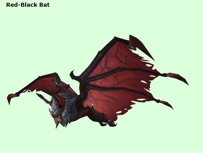 Many New Looks On Pets In Wod Info From Petopia Red Black Bat