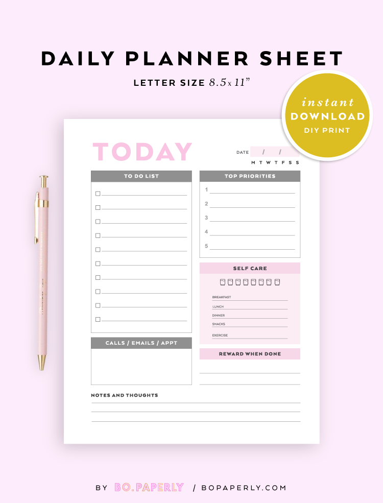 daily planner printable to do list daily task sheet pdf