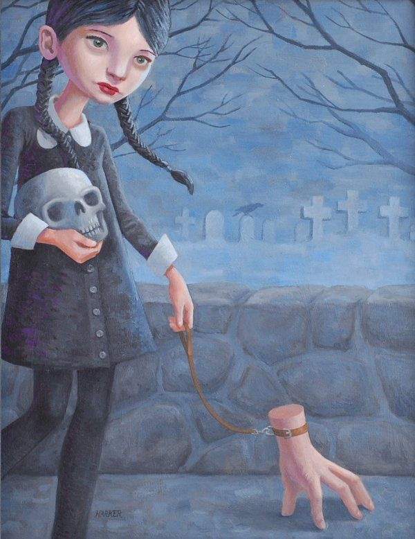 0001 Cemetery Lane By Melocopter Art Artsy Gomez And Morticia