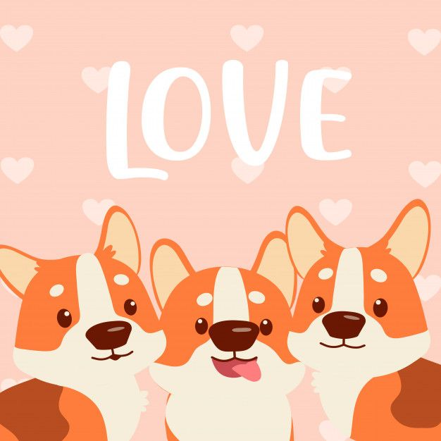 Download Corgi Love You | Corgi, Love you, Vector free