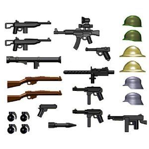 These Are All Of A Varity Different Types Weapons Used In World War 2