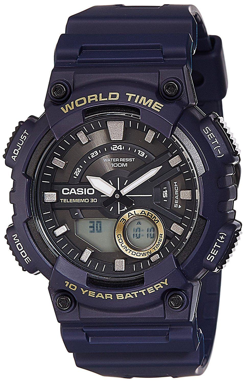 Buy Casio AnalogDigital Black Dial Men