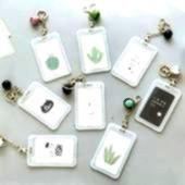 Transparent PVC Bank Bus ID Credit Card Holder Cartoon Cactus Student Card Cover Bag Fruit Keychain Case Organizer W051 Price 800  FREE Shipping  Women Transparent PVC Ba...