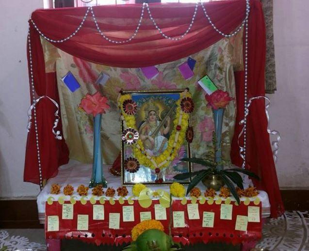 Saraswati Puja Decoration Saraswati Pooja With Images Pooja
