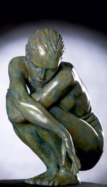 Marie Paule Deville Chabrolle Gesso Pottery Sculpture Human