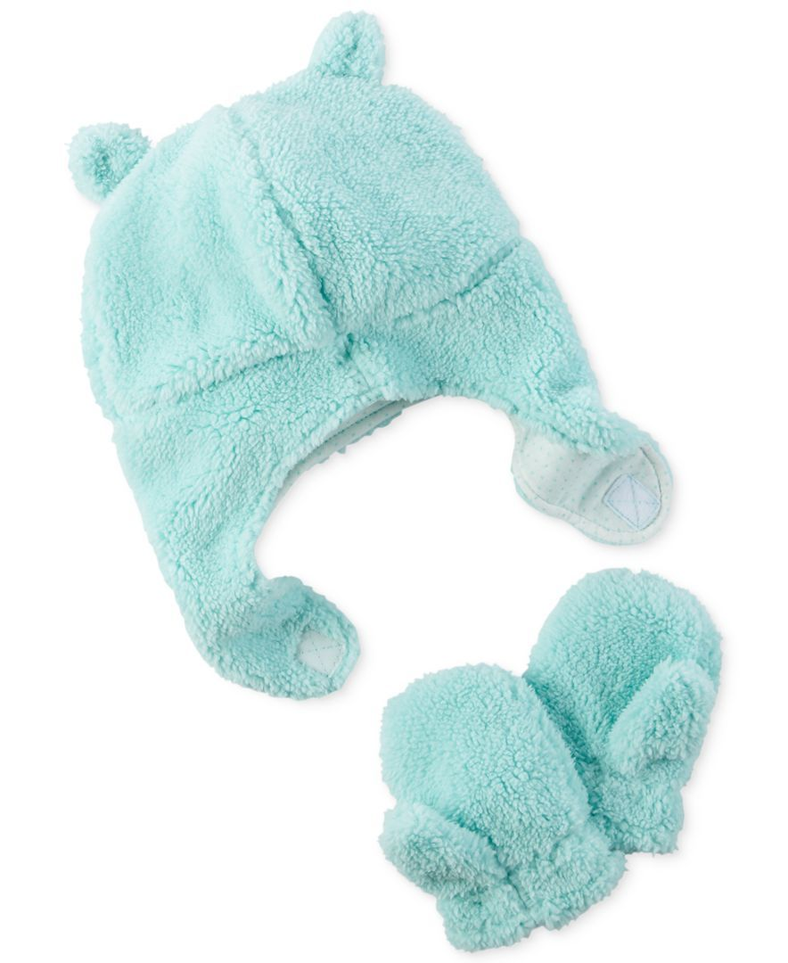 Carter s 2-Pc. Faux-Sherpa Hat   Mittens Set 79a4c2b9cd7