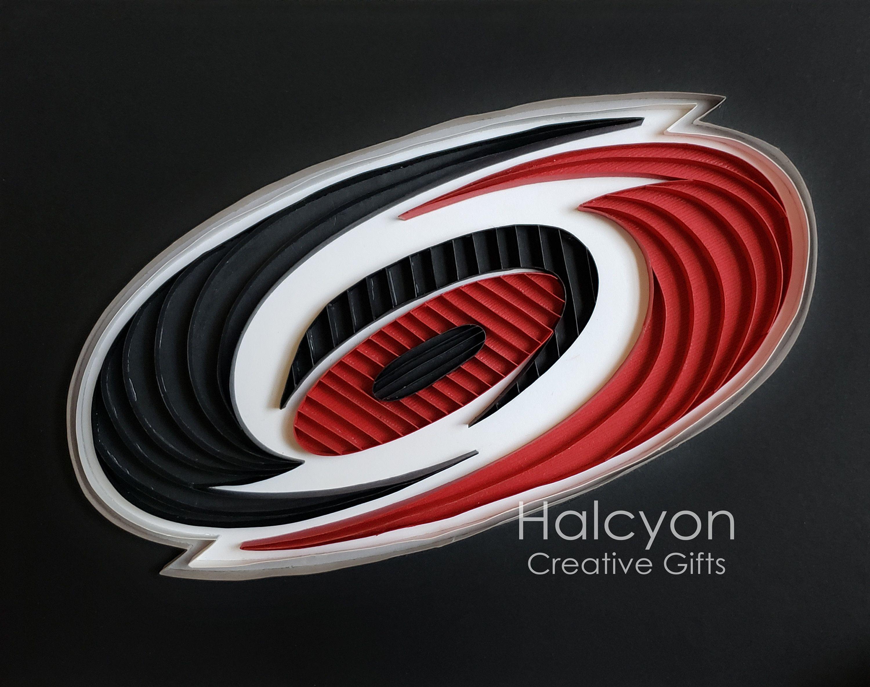 Carolina Hurricanes Logo Quilling Artwork For National Hockey League Team Home Decor And Wall Art In 2020 Hurricane Logo Carolina Hurricanes Quilling