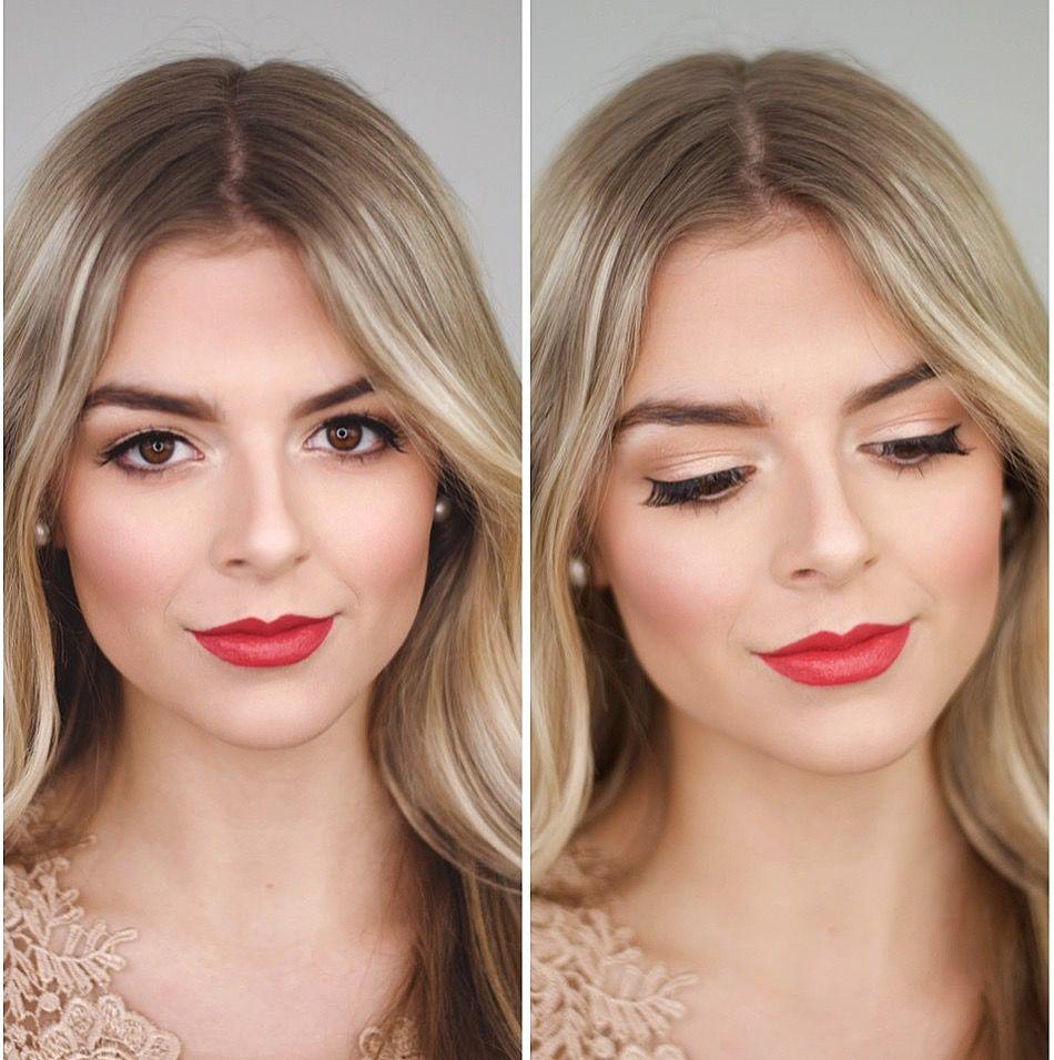 Bold Lips Bridal Makeup Red Lips Blonde Makeup Wedding Makeup