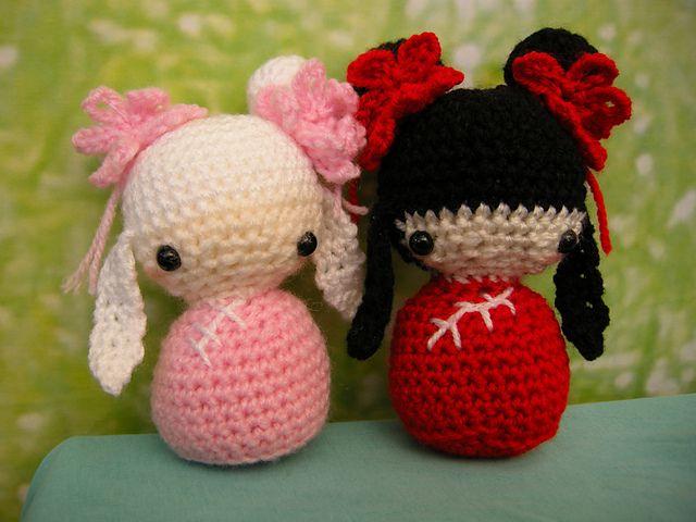 Amigurumi Kokeshi Doll Pattern : Amigurumi chinese kokeshi doll free crochet pattern and tutorial