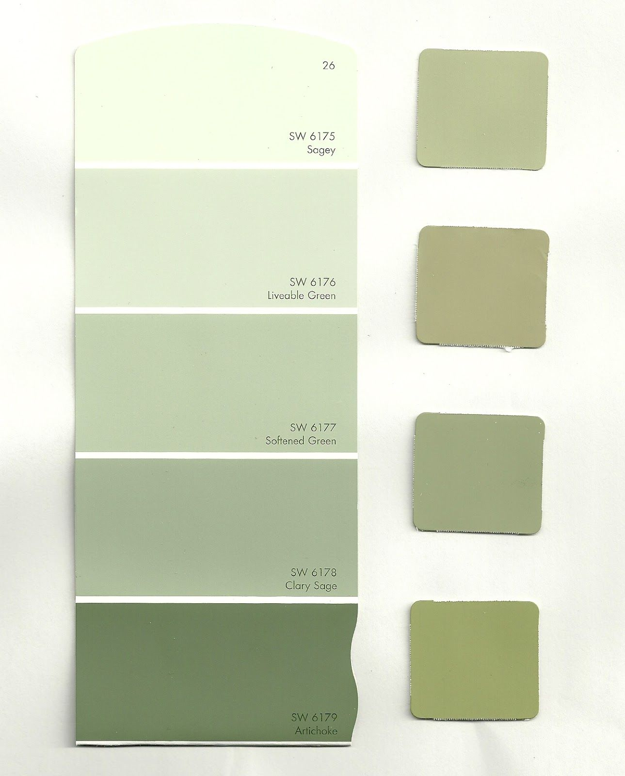 Sherwin Williams Green Paint Colors | We are looking for a middle ...