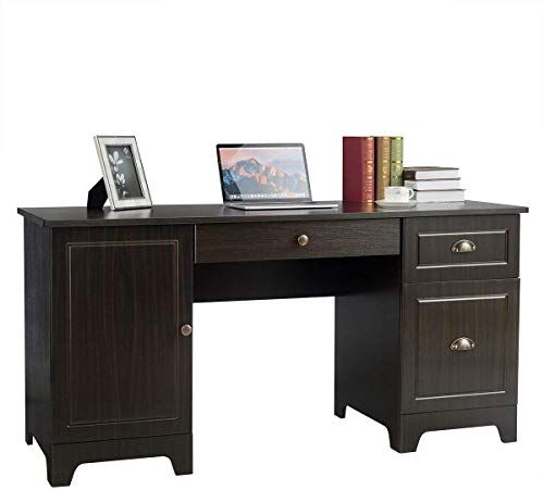 Buy Tangkula 59 Inches Computer Desk, Wood Executive Desk