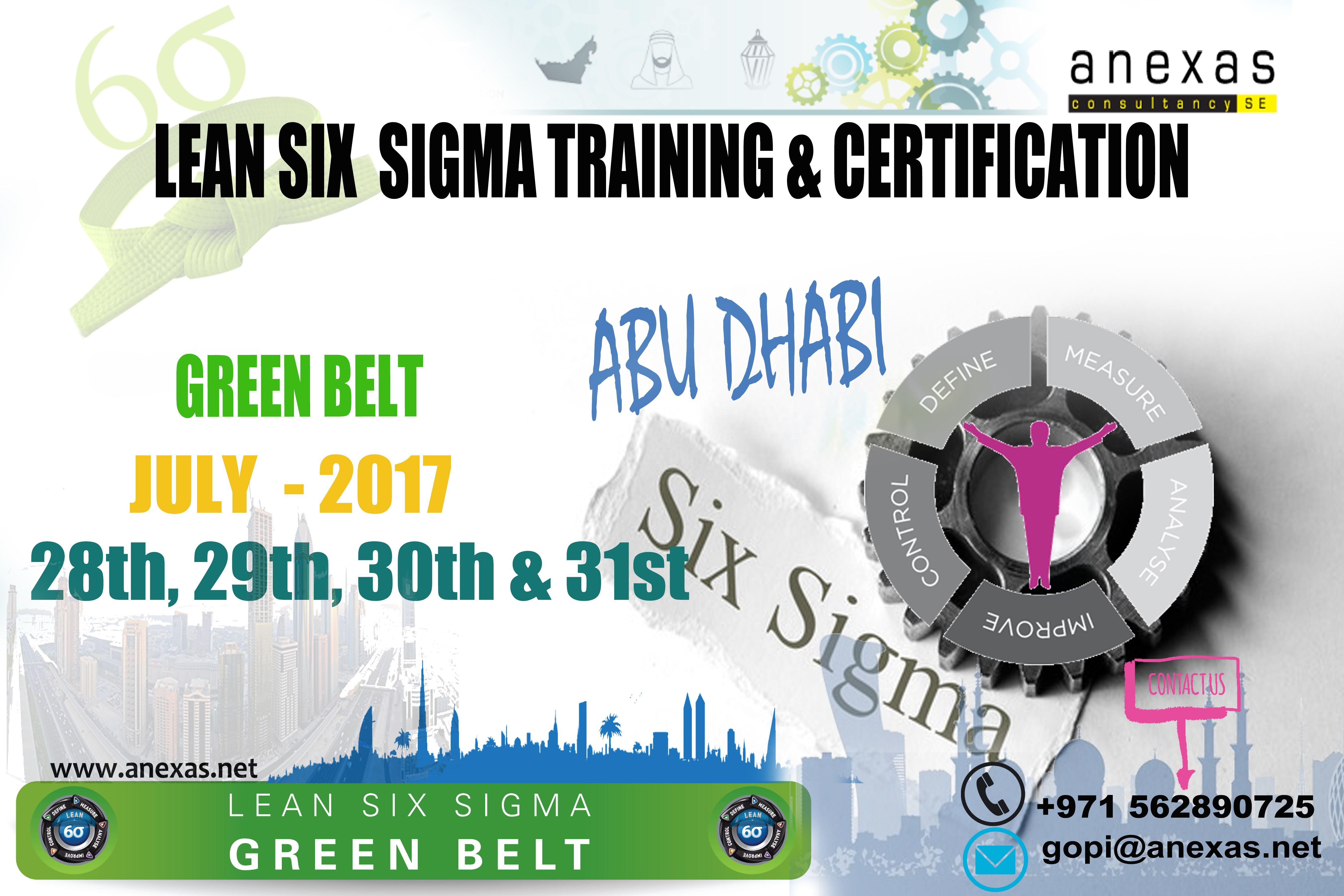 Lean Six Sigma Training And Certification In Abu Dhabi For More