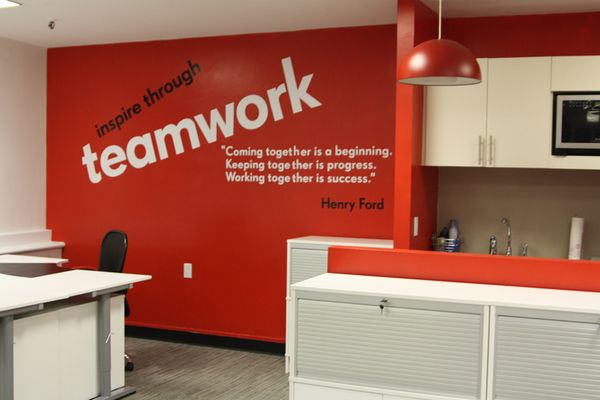 Inspirational wall graphics for corporate offices Aeiforia