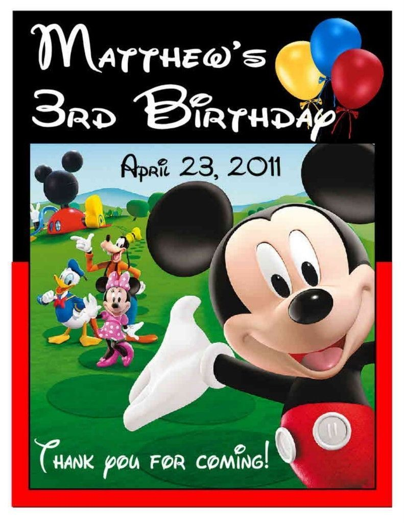 15 mickey mouse clubhouse birthday party favors magnets