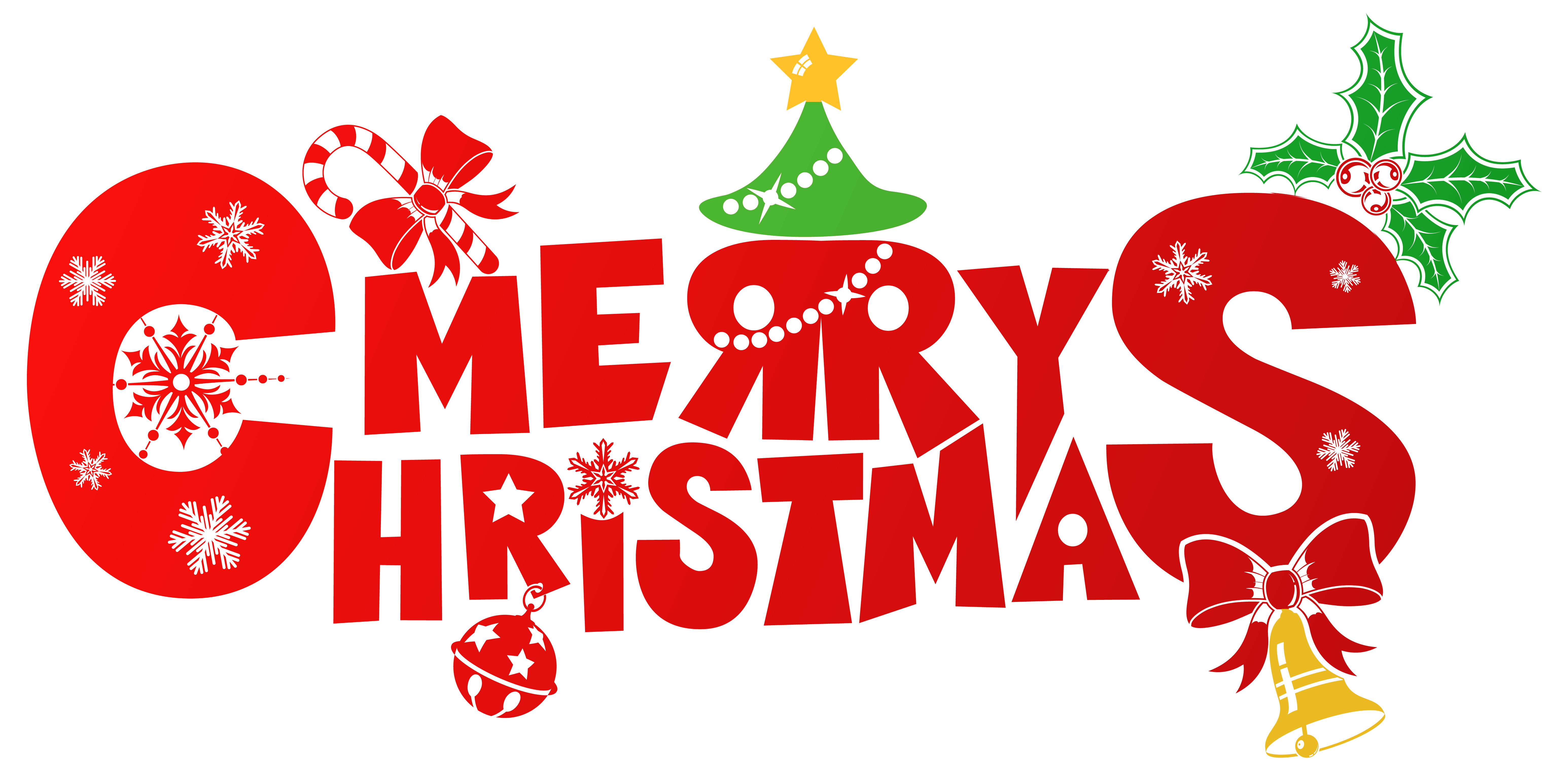 Red Merry Christmas PNG Clipart Image Gallery