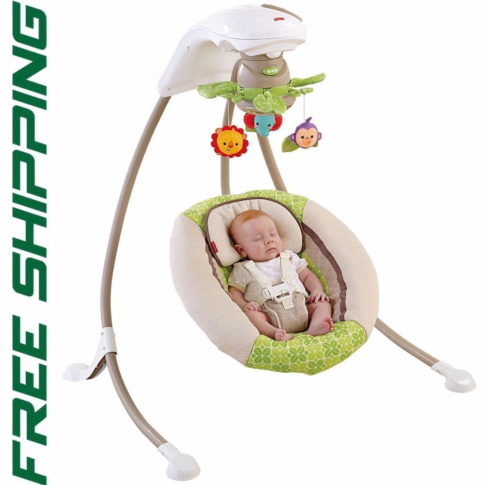 Fisher Price Deluxe Cradle N Swing Rainforest Friends New