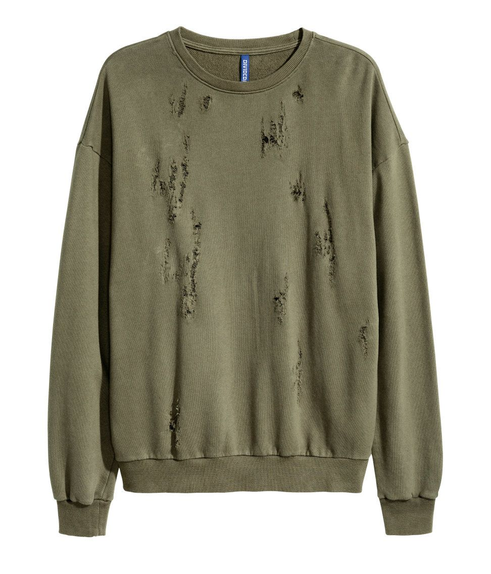 13c4cede Trashed Sweatshirt| H&M Divided Guys | H&M MAN DIVIDED | Fashion ...