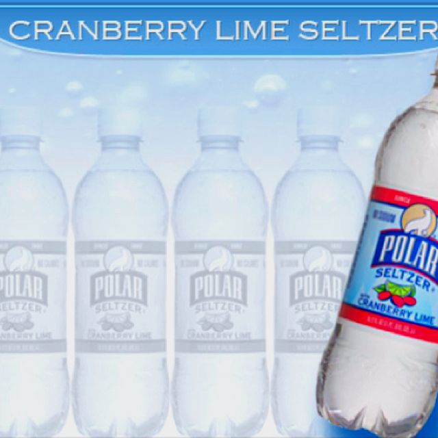 Cranberry Lime Seltzer 3 Seltzer Polar Bottle Carbonated Water