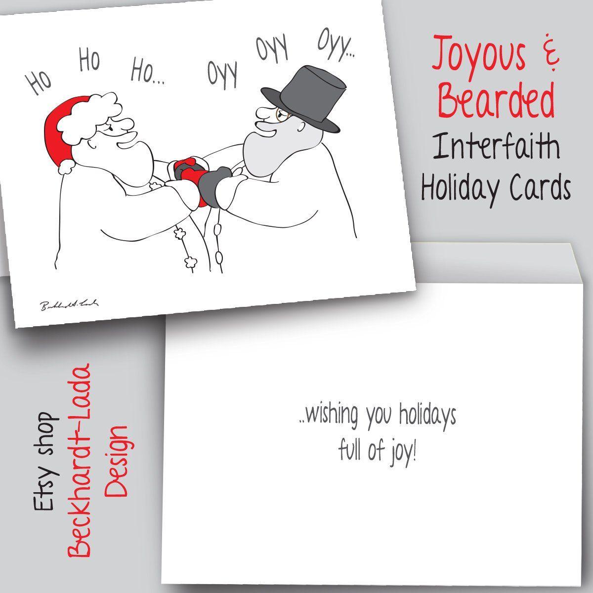 Ho Ho Oyy Oyy 8 Card Pack, FREE SHIPPING, Interfaith