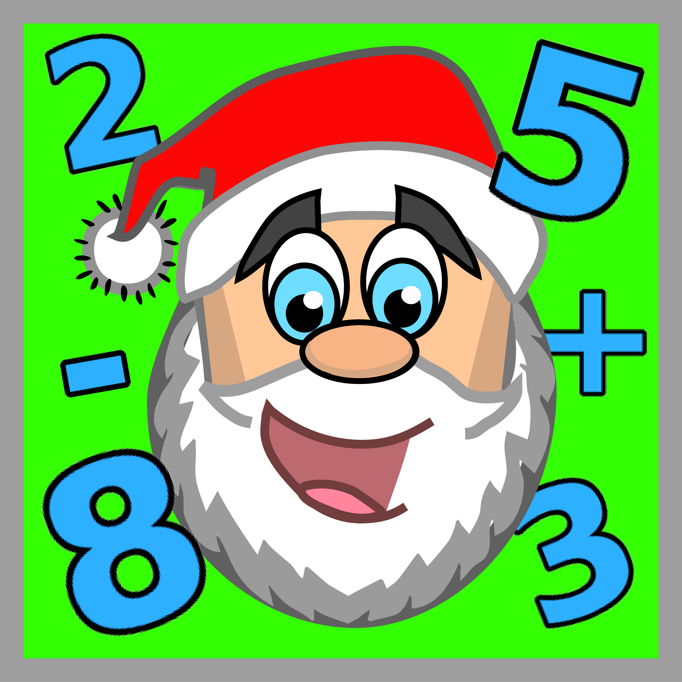 #christmas pictures to color · Santa GamesMath ...