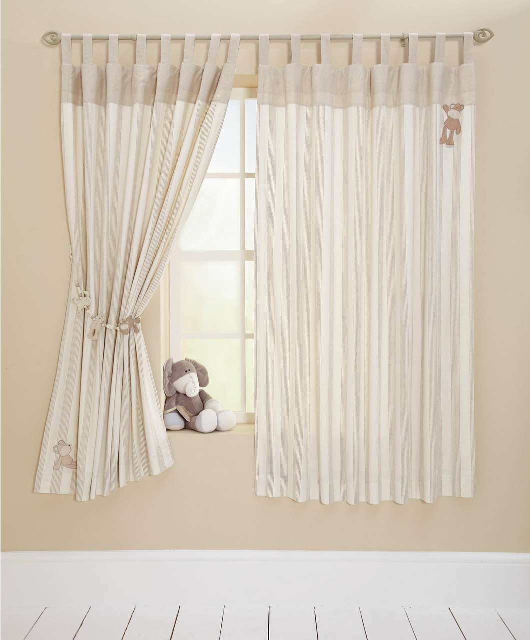 Once Upon A Time Tab Top Lined Curtains 132 X 160cm