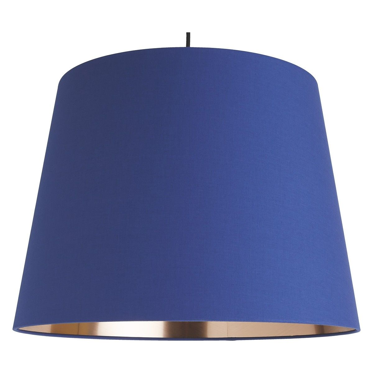 GRANDE Grande blue/copper large tapered lampshade D51 x