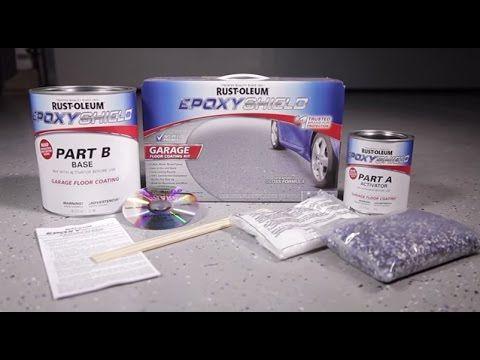 Rust-Oleum EpoxyShield Garage Floor Coating Application