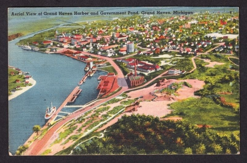 Vintage Postcard City of South Haven at Dock South Haven