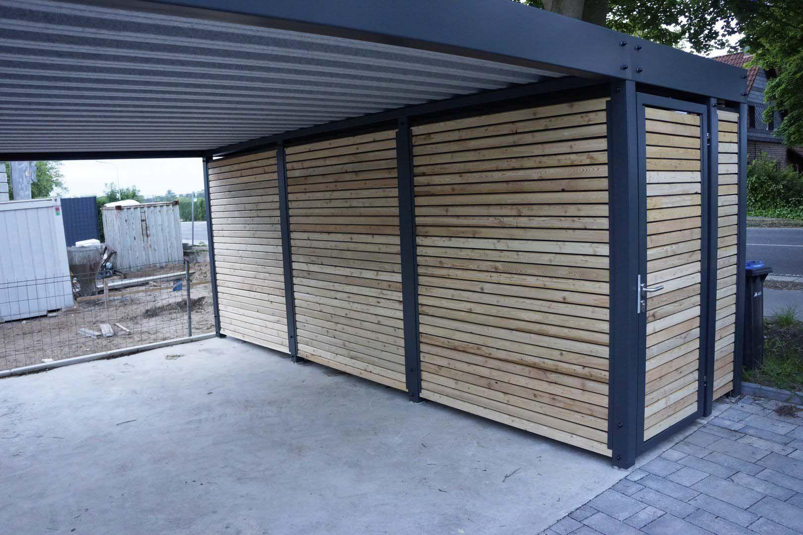 25 fantastische Holzcarports Garage Carport mit