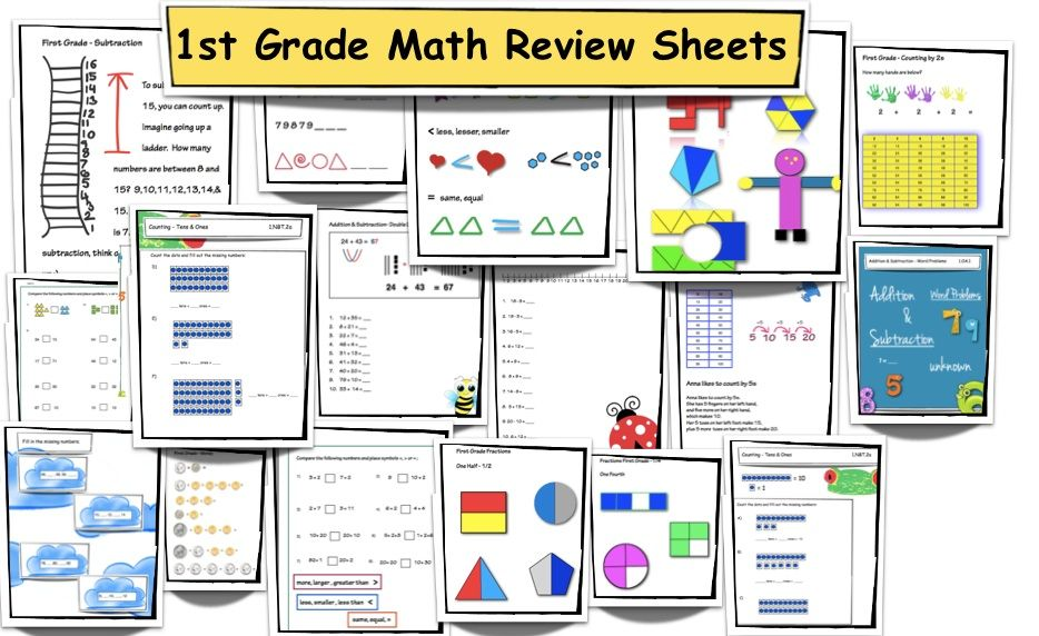 First Grade Math Review Common Core Aligned First grade