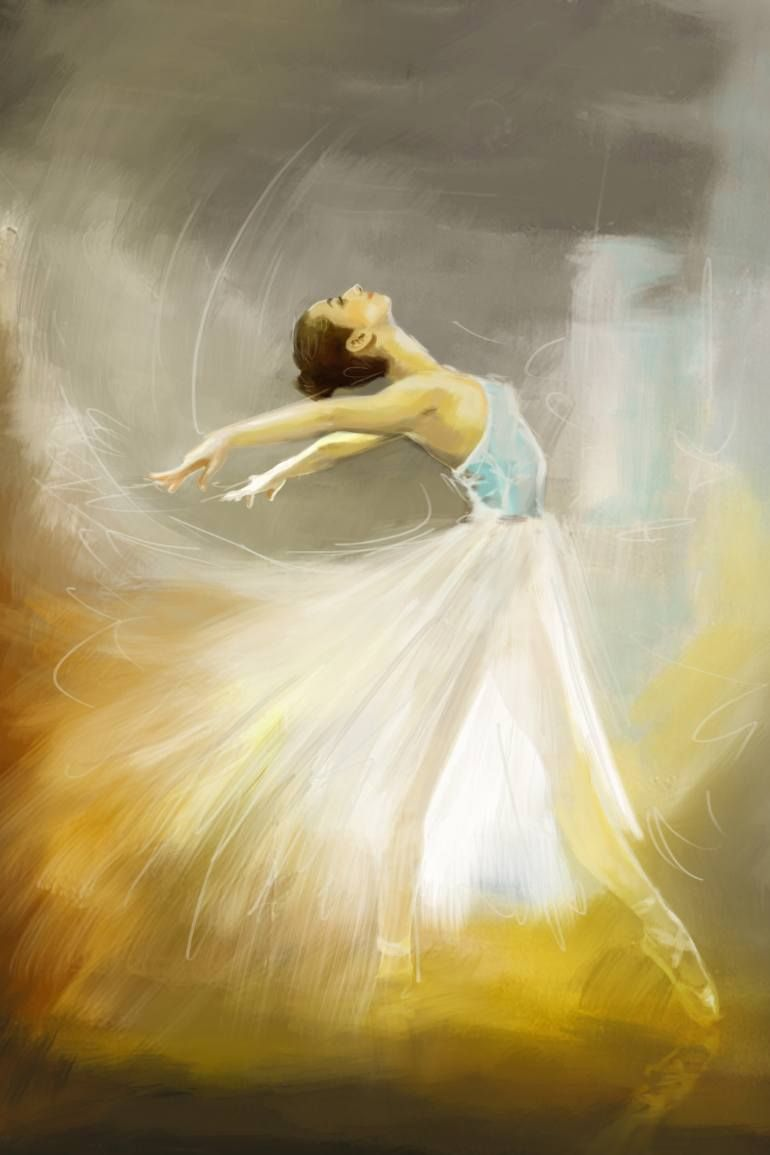 Ballerina Painting By Corporate Art Task Force Oil On Canvas Praise The Lord With Dance Prophetic
