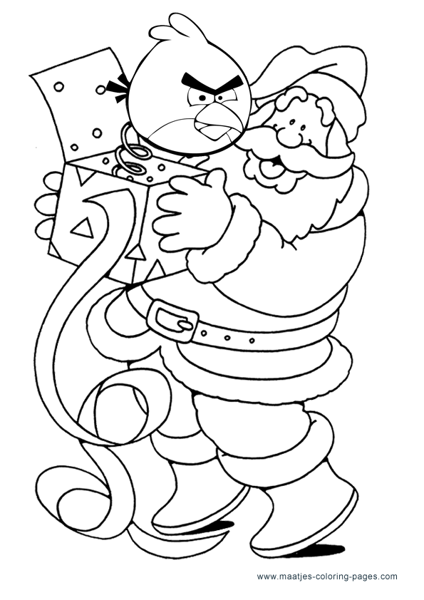 Angry Birds Christmas Coloring Pages Christmas Coloring Pages Coloring Pages Bird Coloring Pages