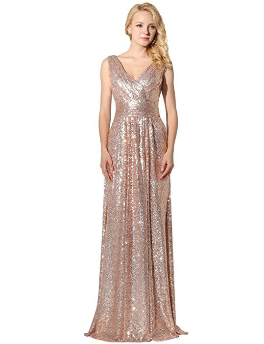 Sarahbridal 2017 New Long Sequins Womens Ladies Evening Prom Dresses ...