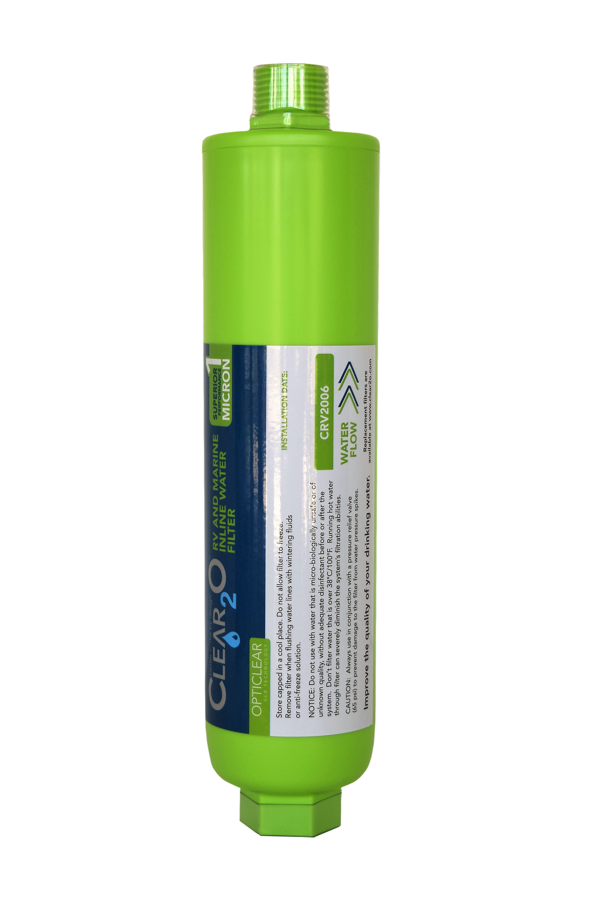 Pin On Clear2o Rv And Marine Inline Water Filter
