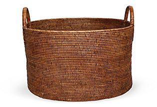 Large Rattan Laundry Basket 640 Retail 449 Onekingslane Size