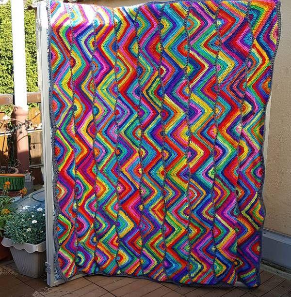 Zig Zag Crochet Blanket Pattern | Craft Ideas | Pinterest | Ganchillo