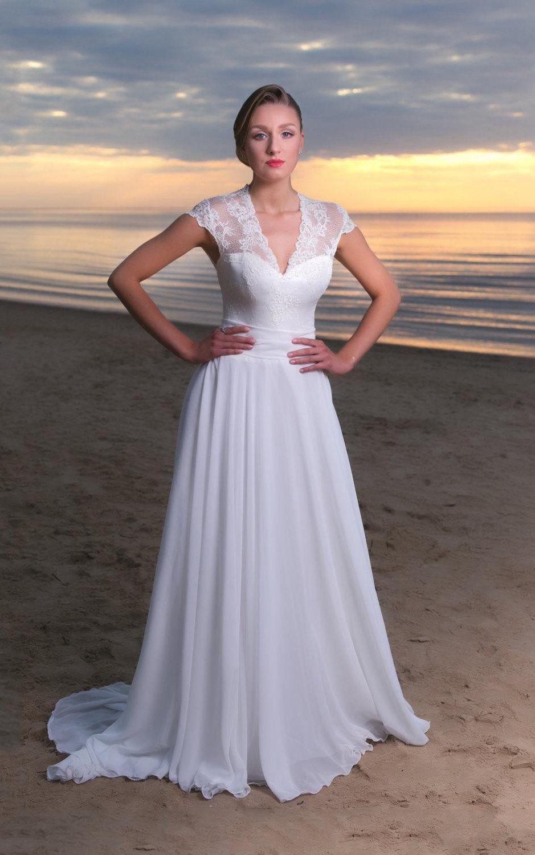 19+ V neck a line wedding dress uk info