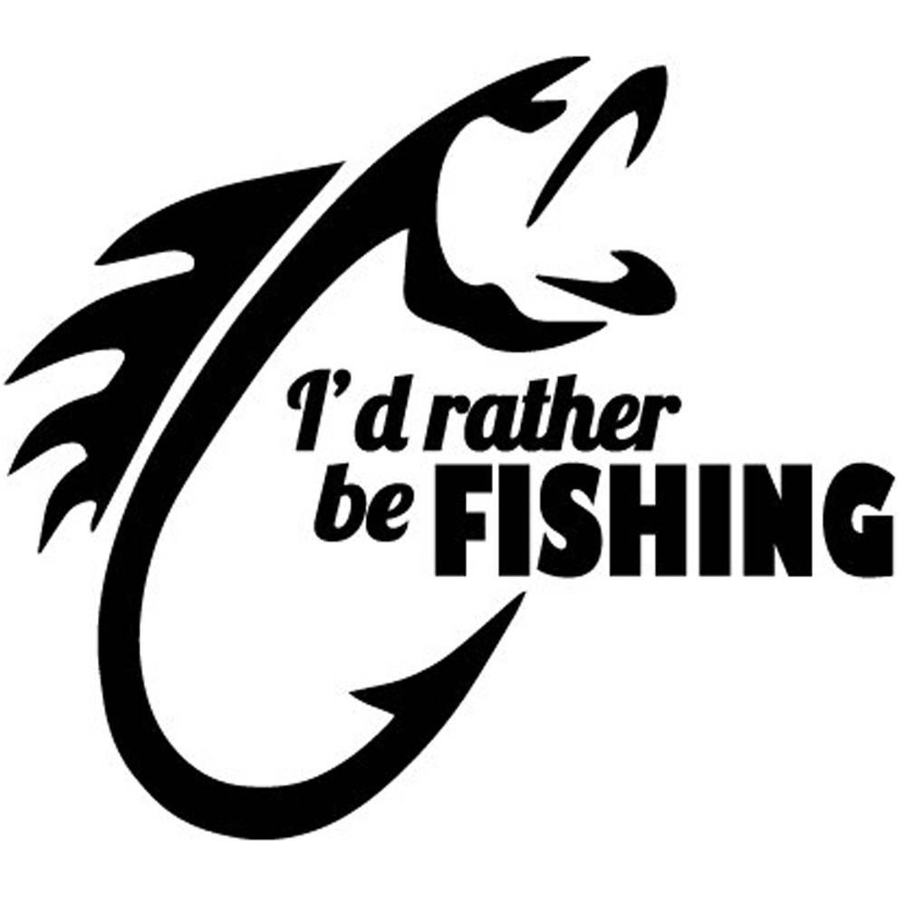 Download Car Truck Parts Other Car Truck Decals Stickers I D Rather Be Fishing Window Car Truck Vinyl Decal Wall Sticker Custom