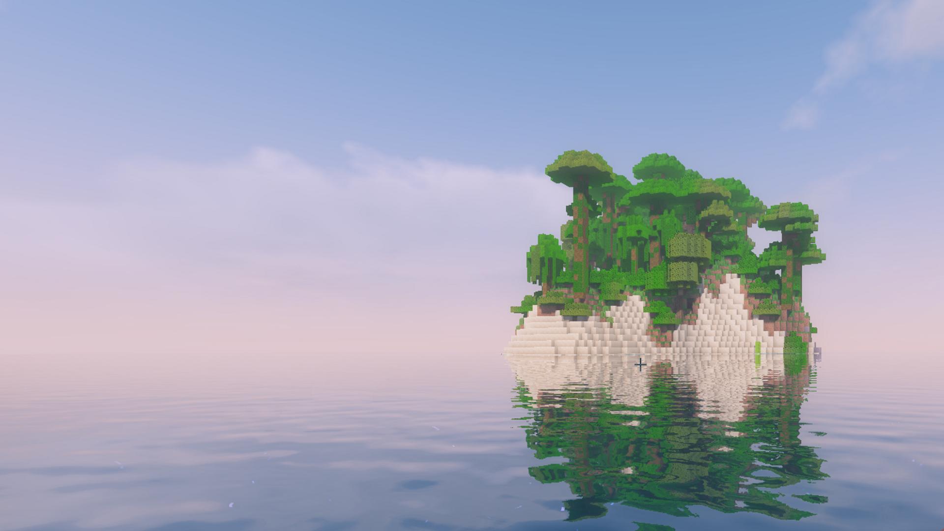 Minecraft Island [1920 x 1080]