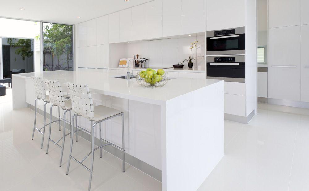 Wit keukeneiland in corian moderne keukens keuken in 2018